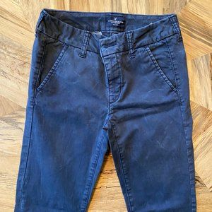 American Eagle Navy Stretch Skinny Pant
